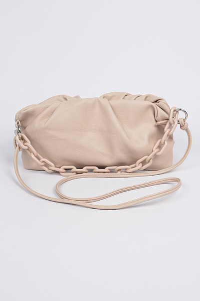 Shoulder Strap Leather Clutch