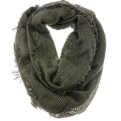 EARTHY TONE SOLID COLOR INFINITY SCARF