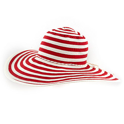 TWO TONE CONCENTRIC DESIGN FLOPPY HAT