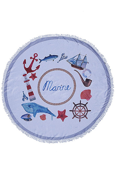 NAUTICAL PATTERN BEACH TOWEL
