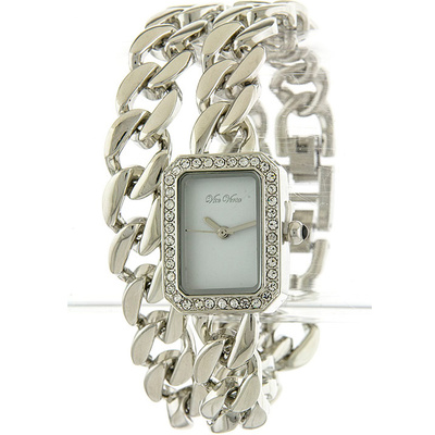 SQUARE HEAVY LOOK CHAIN WRAP WATCH