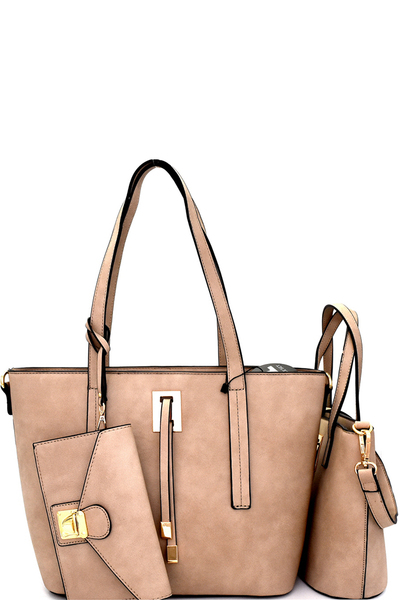 String Accent 3 in 1 Classy Tote SET