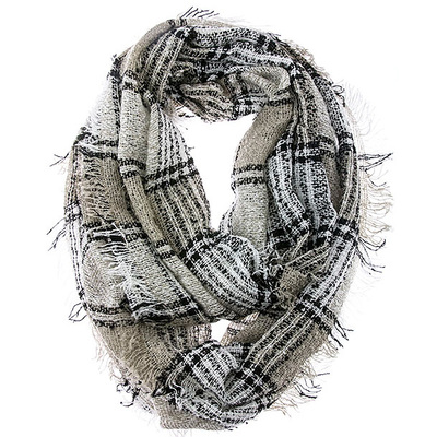 CHECKERED LIGHT WEIGHT INFINITY SCARF