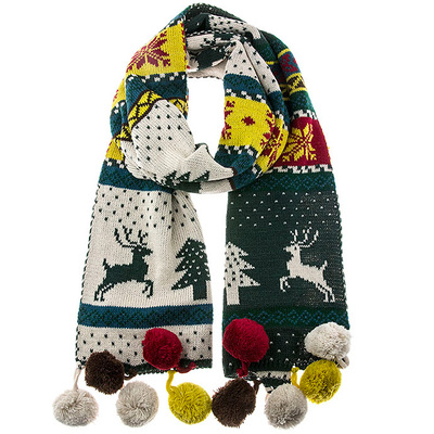 CHRISTMAS DESIGN SCARF