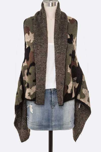 Camouflage Winter Knit Vest