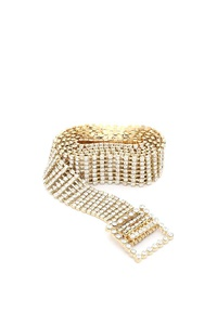 RHINESTONE METAL BELT