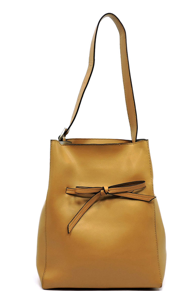 Fashion Drawstring Bow 2-in-1 Shoulder Bag