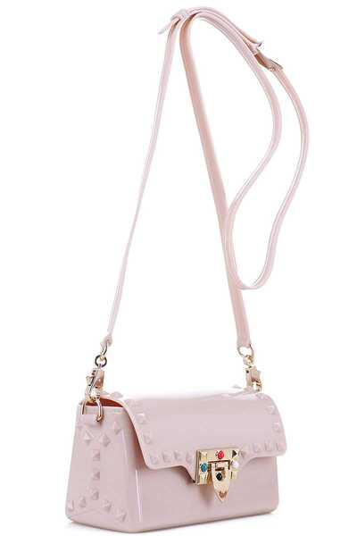 Studded Jelly 2-Way Small Shoulder Bag