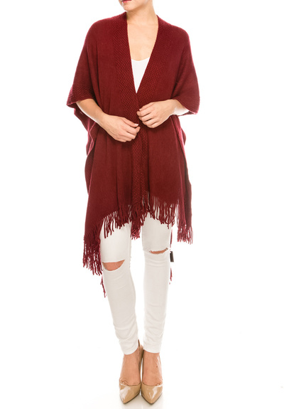 Trendy Scarf with Fringe Accent
