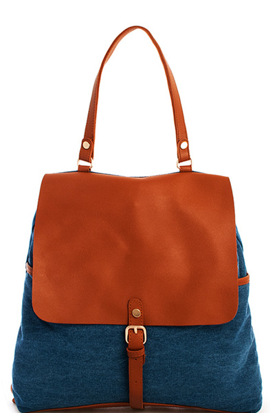 Trendy Washing Denim Chic Backpack