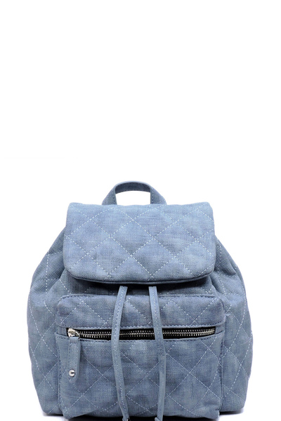 Quilted Drawstring Backpack