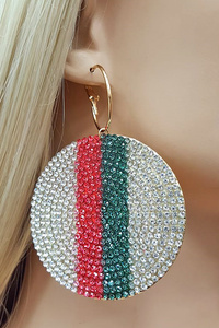 CIRCLE RHINESTONE EARRINGS
