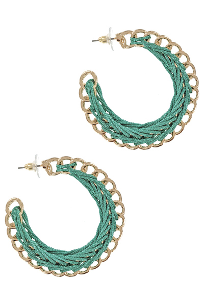 Half Hoop Braided Thread Earrings