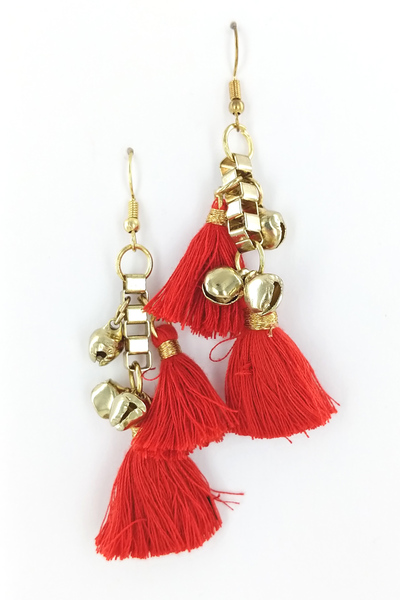 BELLS AND FRINGE EARRINGS