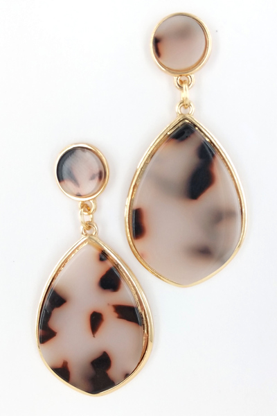 TearDrop Resin Material Earring