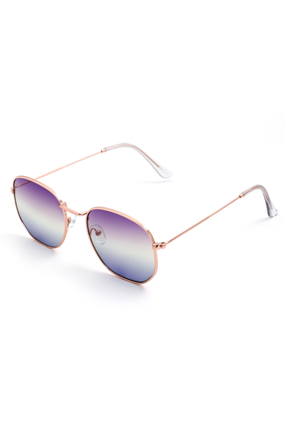Thin Mirror Lens Sunglasses