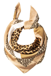 Leopard Pattern Square Scarf