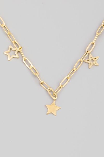 Chain Link Star Charm Necklace