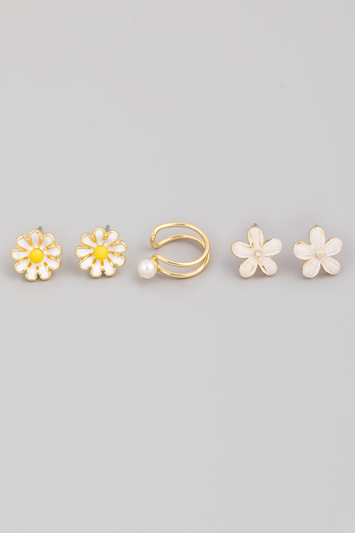 Mini Flower Stud Earrings Set