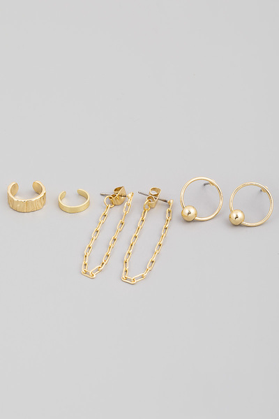 Assorted Cuff Earrings Set