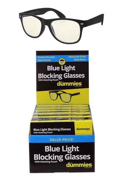 DUMMIES BLUE LIGHT BLOCK GLASSES + DISPLAY