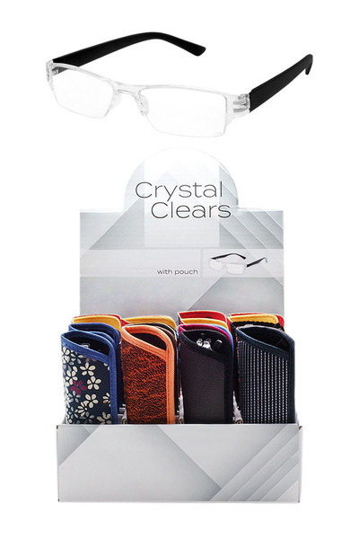 CLEAR READERS DISPLAY COLOR POUCHES