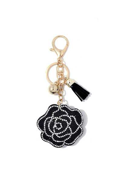 Rose Puffy Bling Keychain