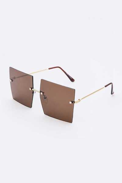Square Rimless Sunglasses Set