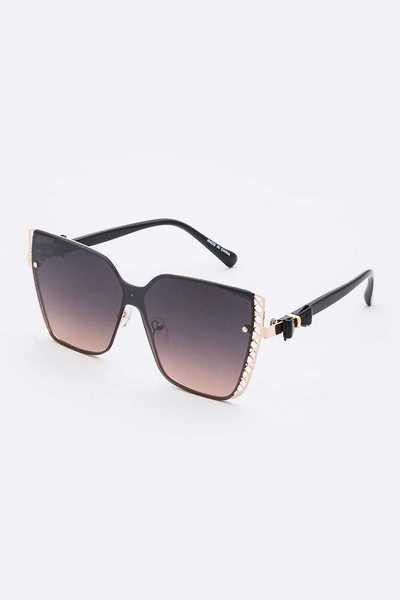 Cat Eye Square Sunglasses Set