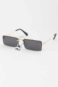 Rectangular Tinted Retro Sunglasses