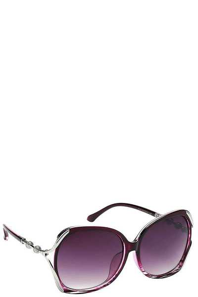 Contemporary Butterfly Frame Womens Sunglasses