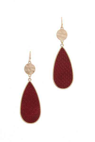 Teardrop Shape Post Drop Earring