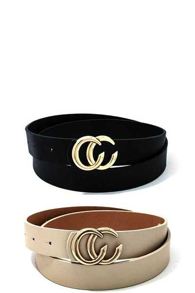 2 PCS. FASHION BUCKLE BELT