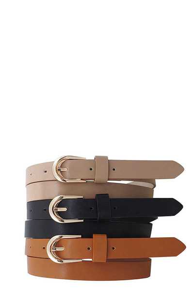 3 PCS. MODERN TRENDY FASHION BELTS
