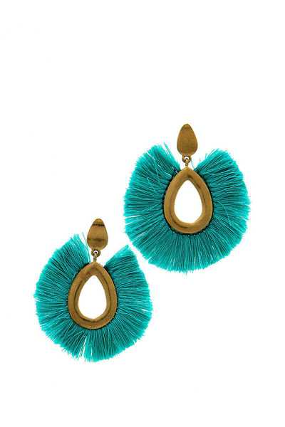 FASHION STYLISH TEAR DROP TASSEL EARRING