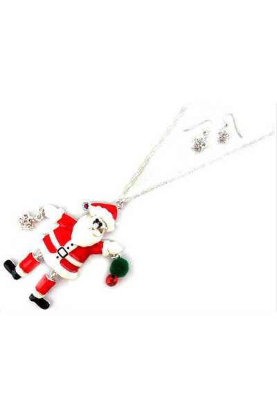 SANTA CLAUS PENDANT NECKLACE