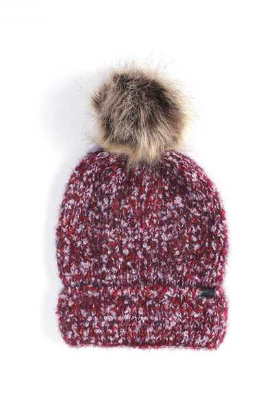 SOFT WARM FAUX FUR POM POM BEANIE