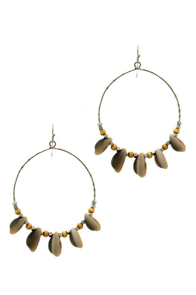 SEA SHELL MODERN HOOP EARRING