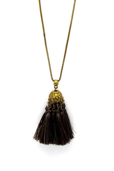 CHIC FASHION TASSEL PENDANT NECKLACE