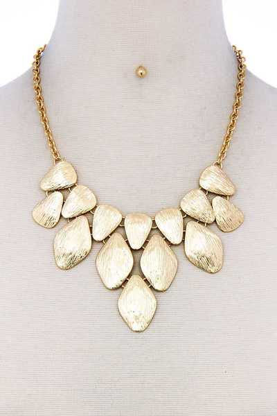 MODERN STYLISH MULTI DROP CHUNKY NECKLACE AND EARRING SET