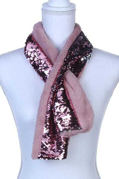 SEQUIN SOFT PULL THROUGH SCARF