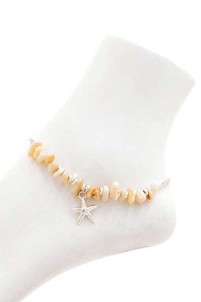 FASHION BEADED STAR FISH DANGLE ANKLET