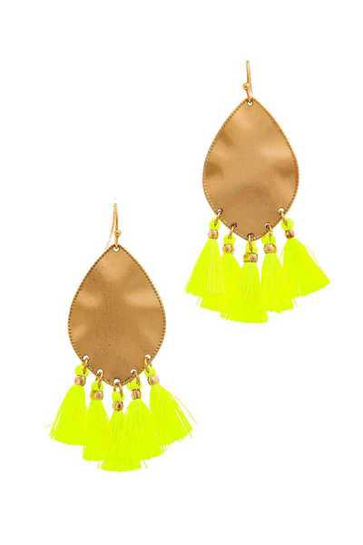 MODERN CHIC MULTI TASSEL DROP EARRING