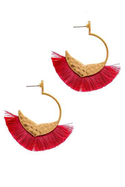 STYLISH CHIC FAN TASSEL EARRING