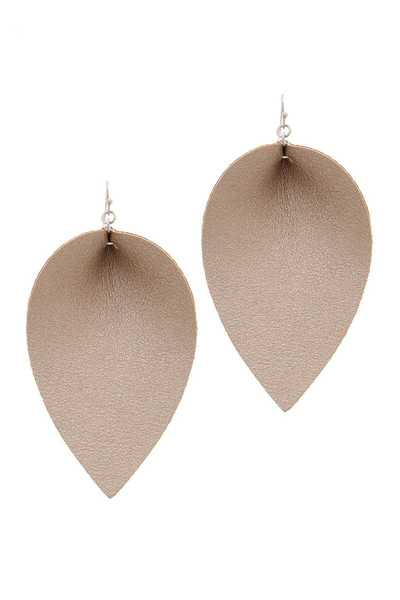 LEATHER DROP EARRING