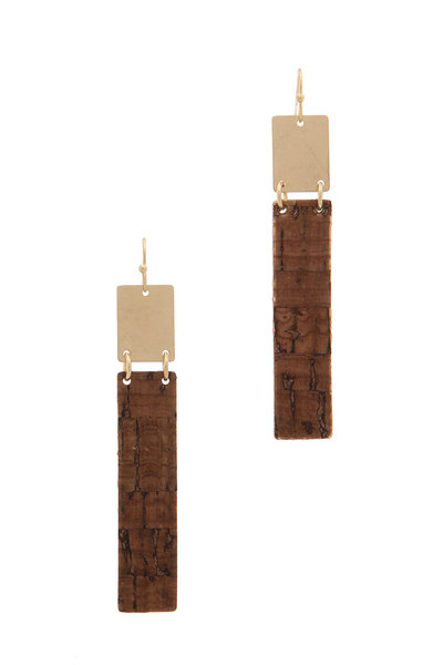RECTANGULAR SHAPE DROP EARRING