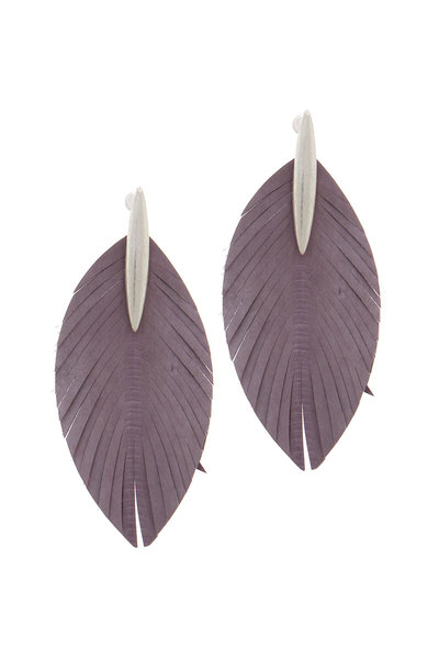 POINTED OVAL SHAPE FRAY DROP EARRING