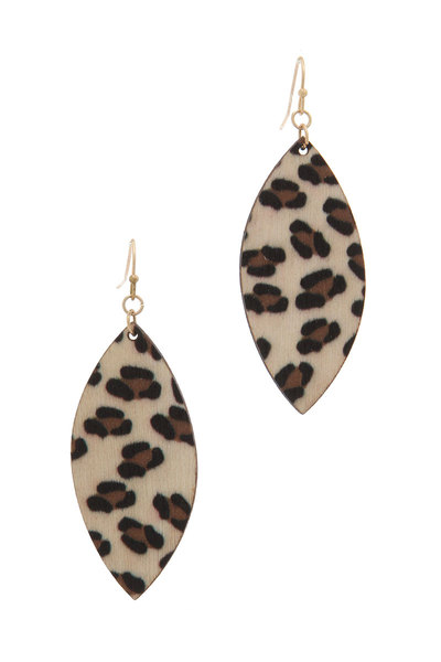 ANMAL PATTERN DROP EARRING