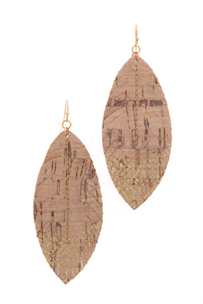 POINTED OVAL DROP EARRING