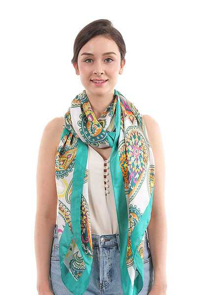 FASHION PAISLEY PATTERN SILKY SCARF